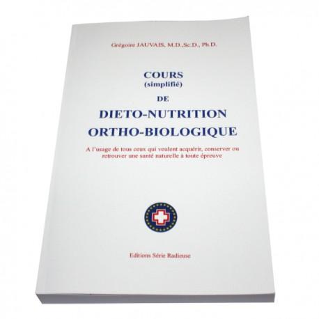 Livre Cours de Diéto-nutrition Ortho-biologique
